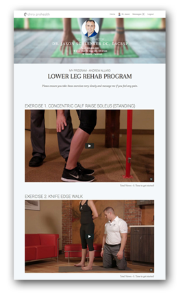 Personalized Home Exercise Program